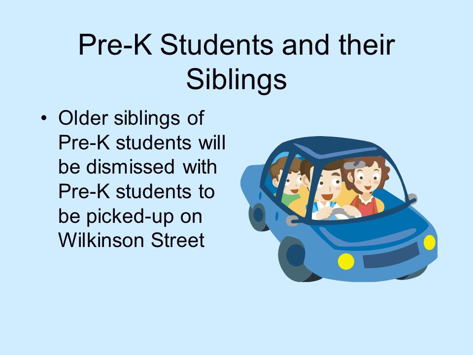 Pre-K Students and their Siblings