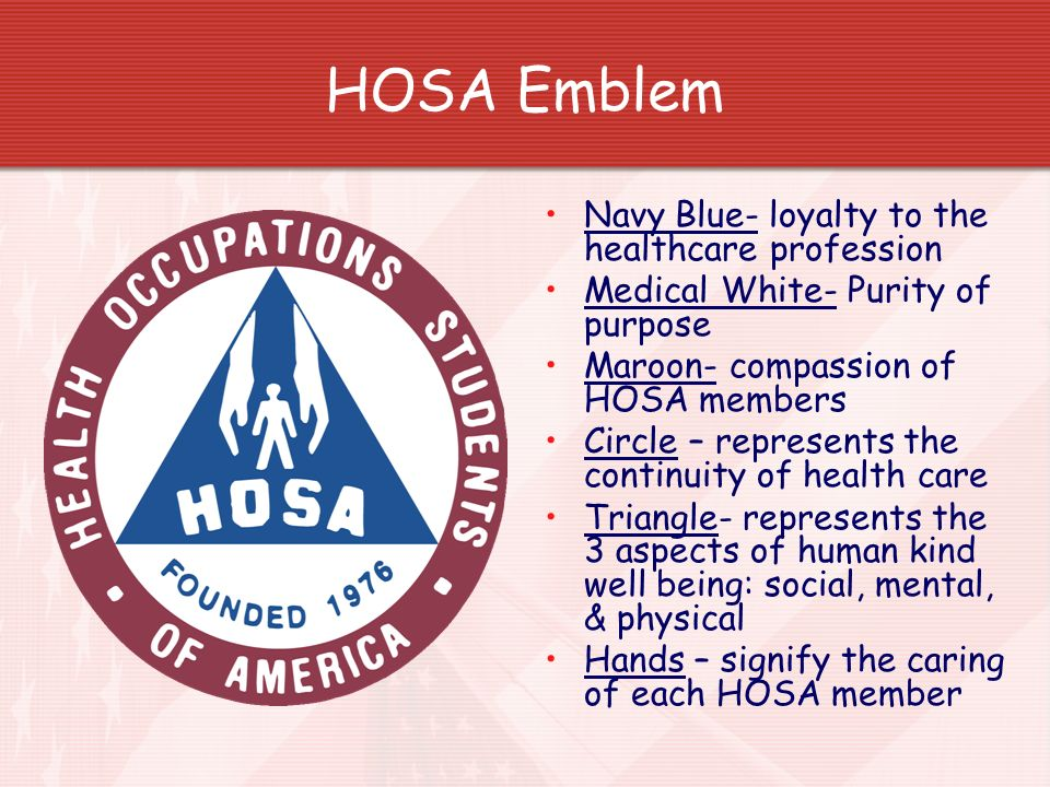 HOSA Emblem Navy Blue- loyalty to the healthcare profession
