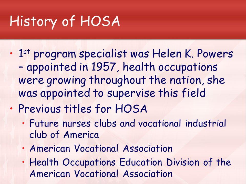 History of HOSA