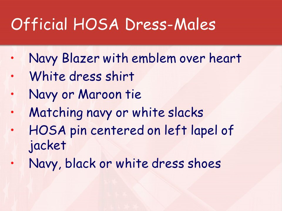 Official HOSA Dress-Males