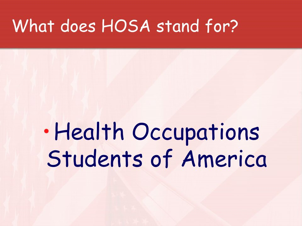 What does HOSA stand for