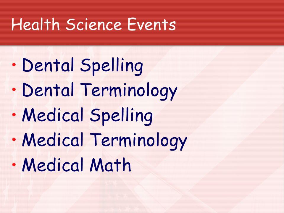 Dental Spelling Dental Terminology Medical Spelling