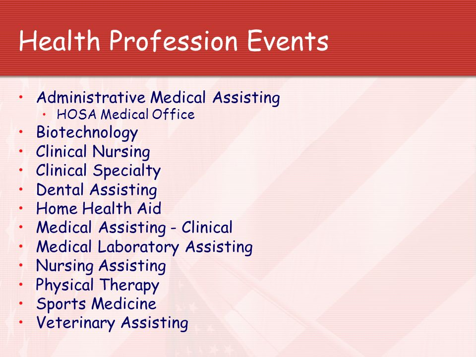 Health Profession Events