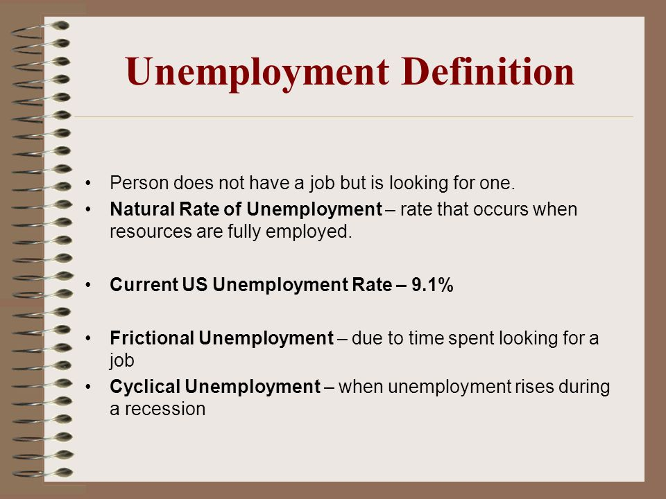 Use 'unemployment rate' in a Sentence