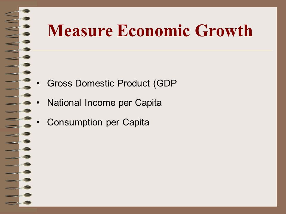 Measure Economic Growth