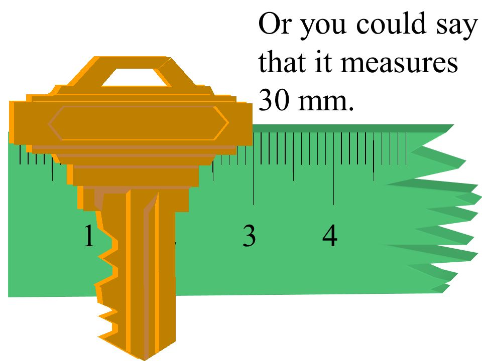Or you could say that it measures 30 mm.