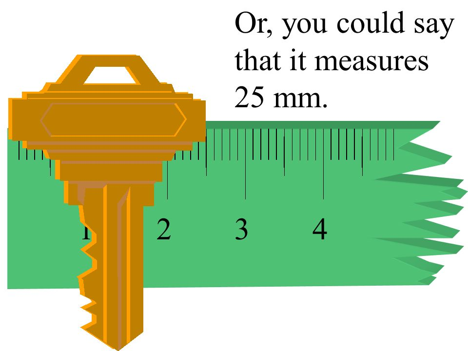Or, you could say that it measures 25 mm.