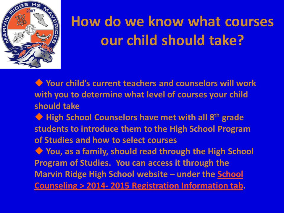 How do we know what courses our child should take
