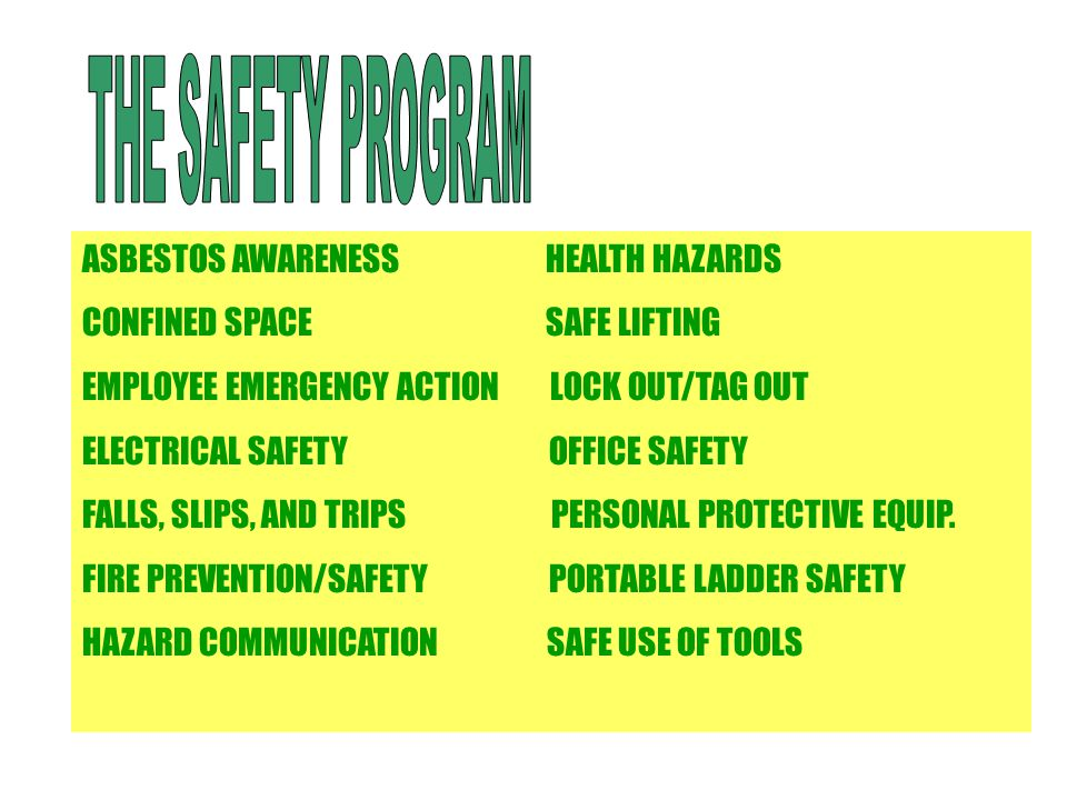 Facility And Occupant Safety Program - Ppt Video Online Download