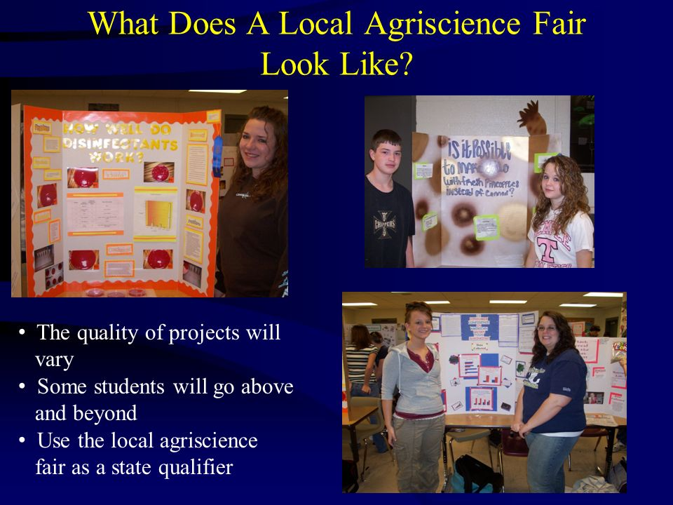 What Does A Local Agriscience Fair Look Like