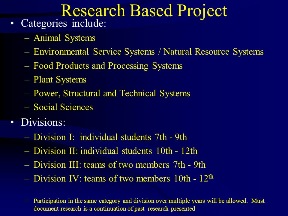 Research Based Project