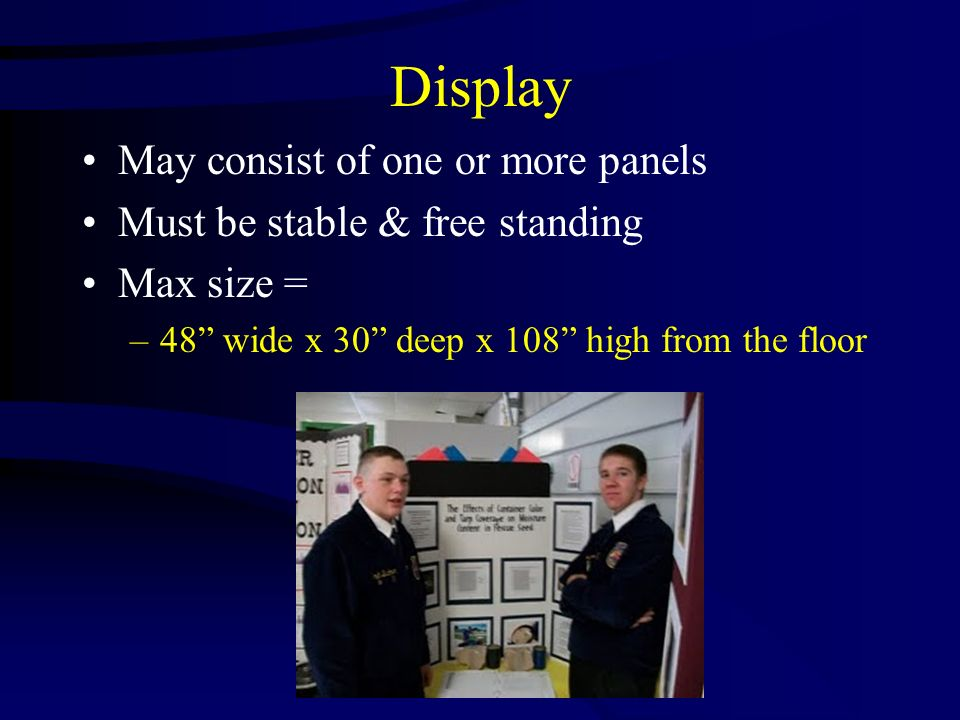Display May consist of one or more panels