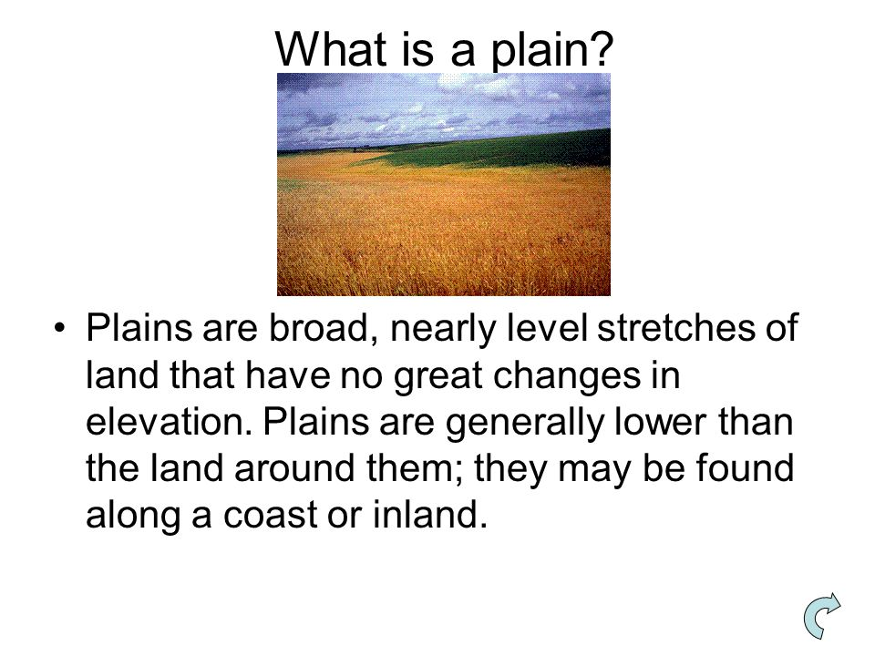 What is a plain