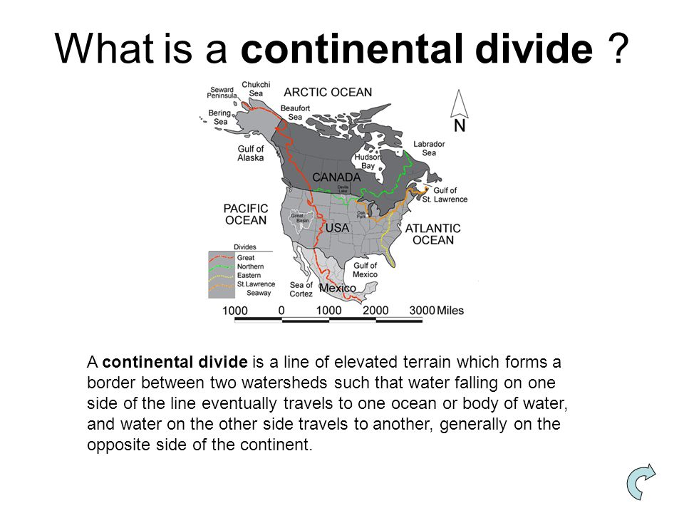 What is a continental divide
