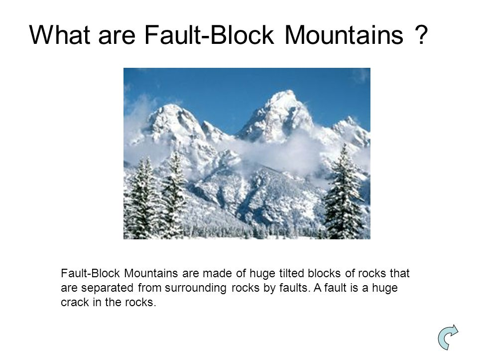 What are Fault-Block Mountains