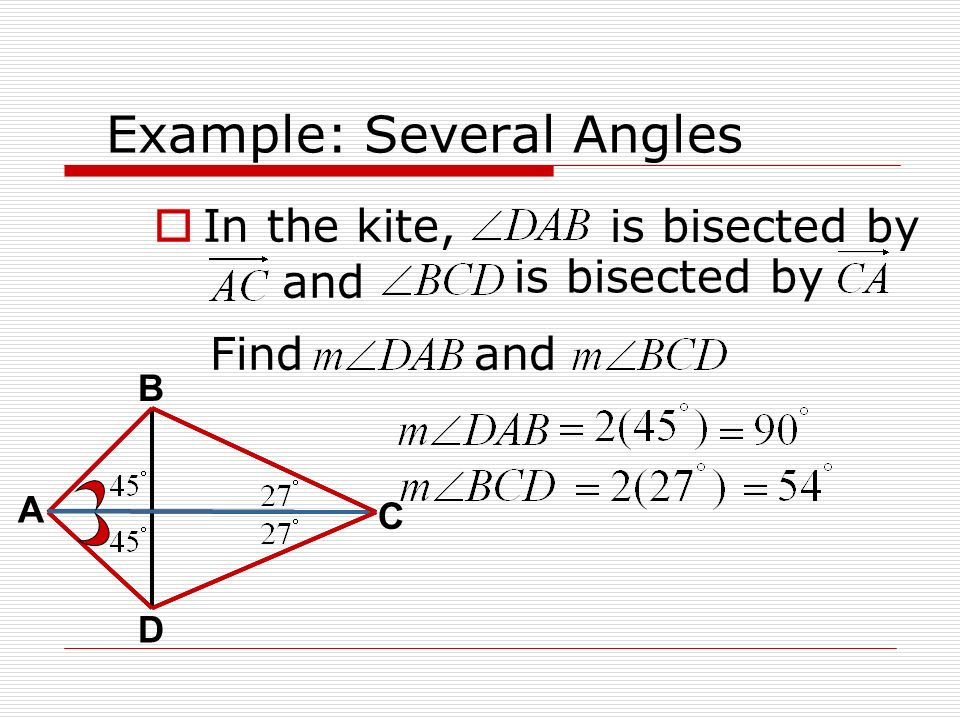 Example: Several Angles