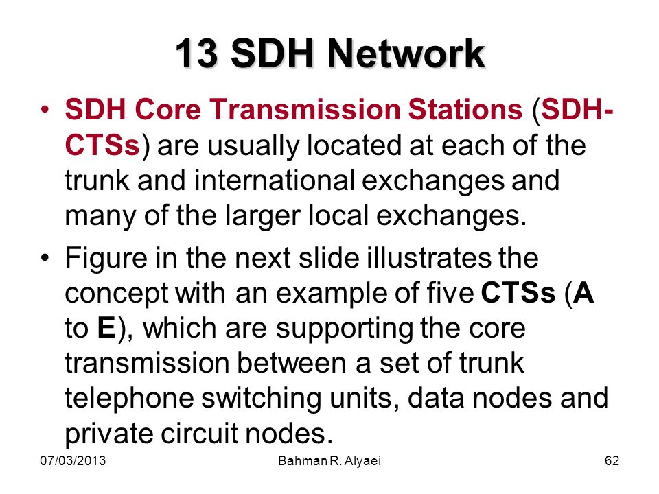 13 SDH Network