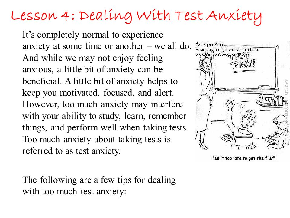 Lesson 4: Dealing With Test Anxiety