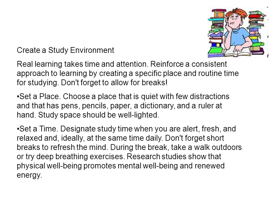 Create a Study Environment