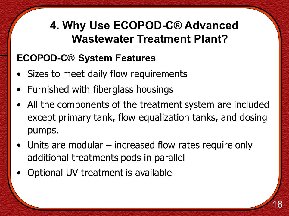 4. Why Use ECOPOD-C® Advanced Wastewater Treatment Plant