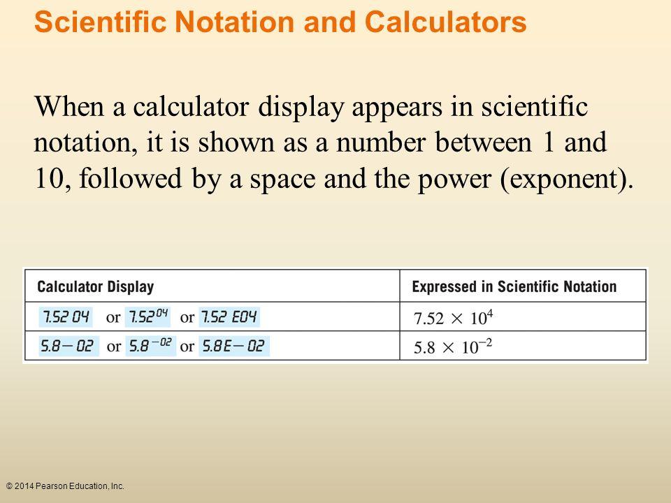 Scientific Notation and Calculators