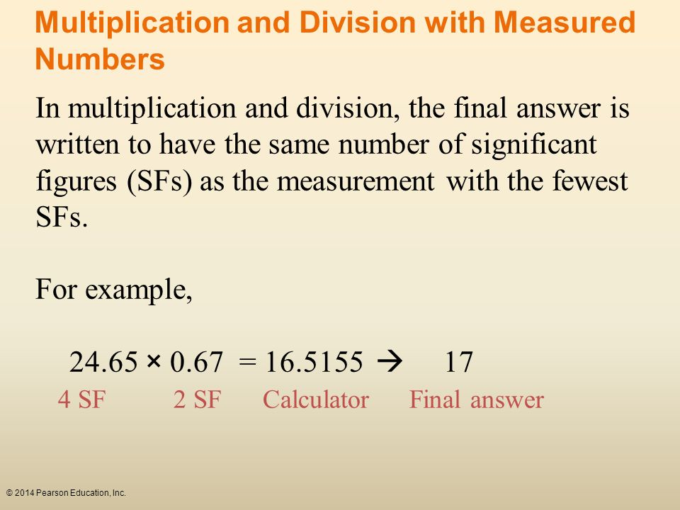 Multiplication and Division with Measured Numbers