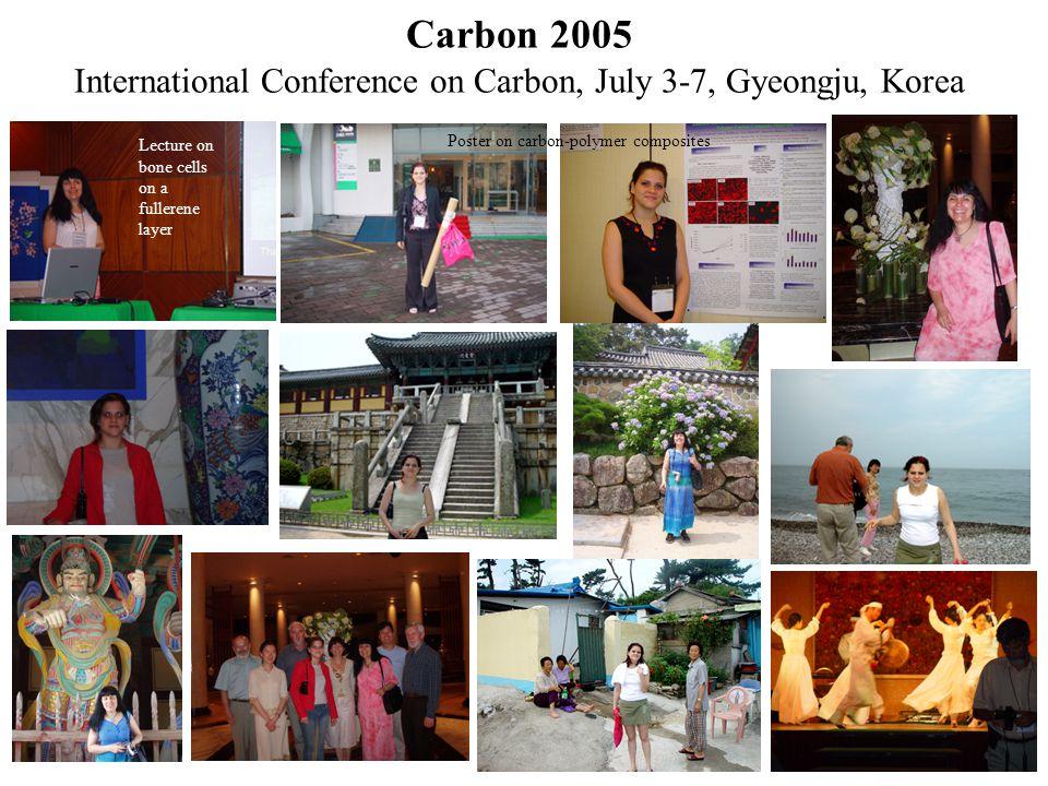 Carbon 2005 International Conference on Carbon, July 3-7, Gyeongju, Korea