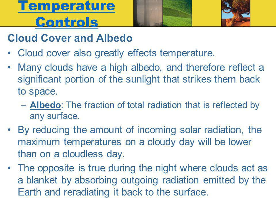 Temperature Controls Cloud Cover and Albedo