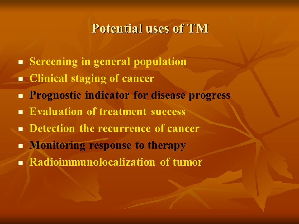 Potential uses of TM Screening in general population