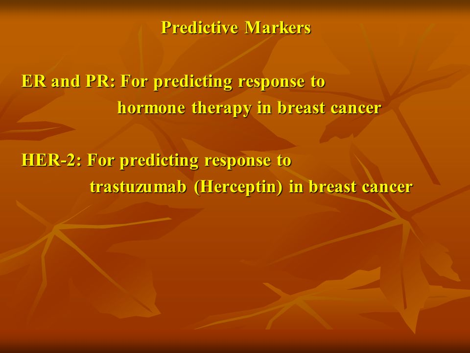 Predictive Markers