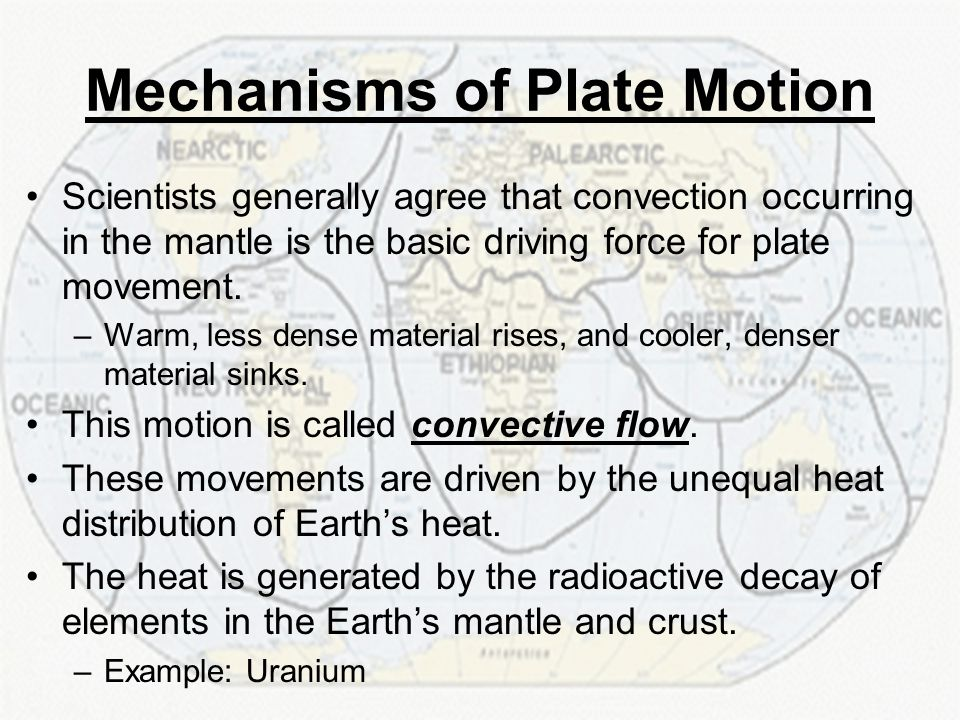 Mechanisms of Plate Motion