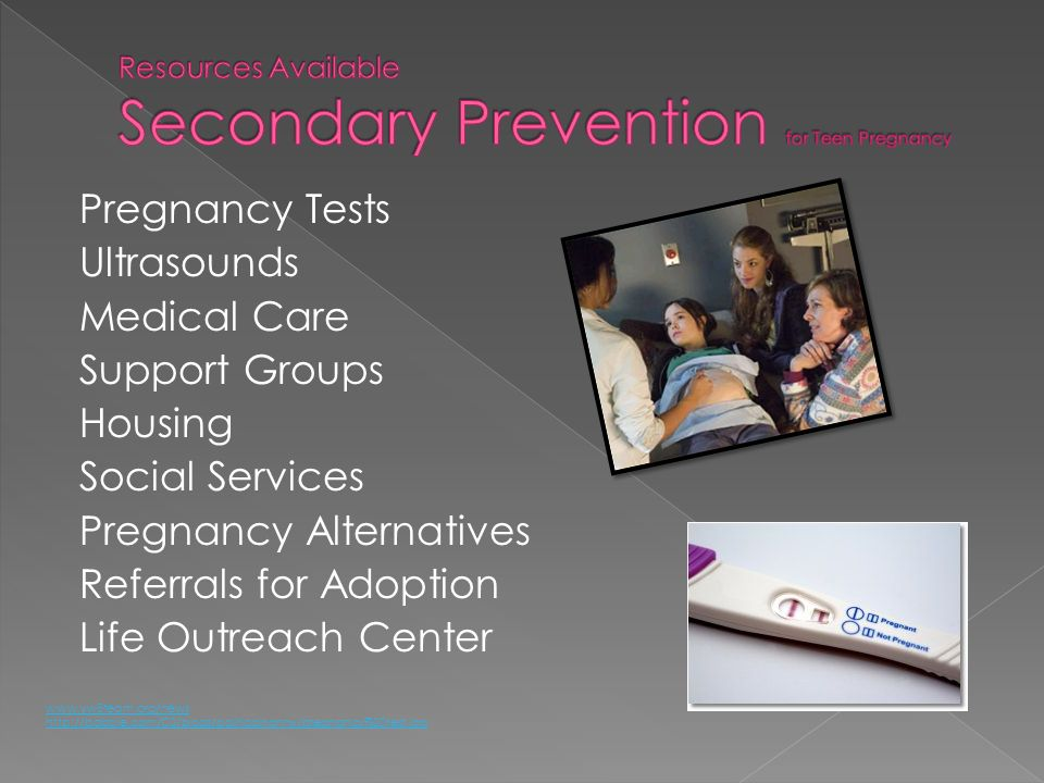 Resources Available Secondary Prevention for Teen Pregnancy
