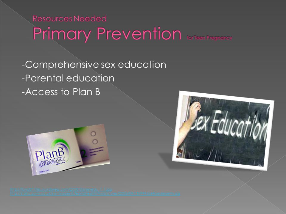 Resources Needed Primary Prevention for Teen Pregnancy