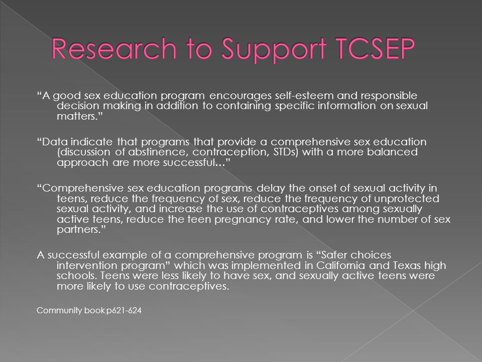 Research to Support TCSEP
