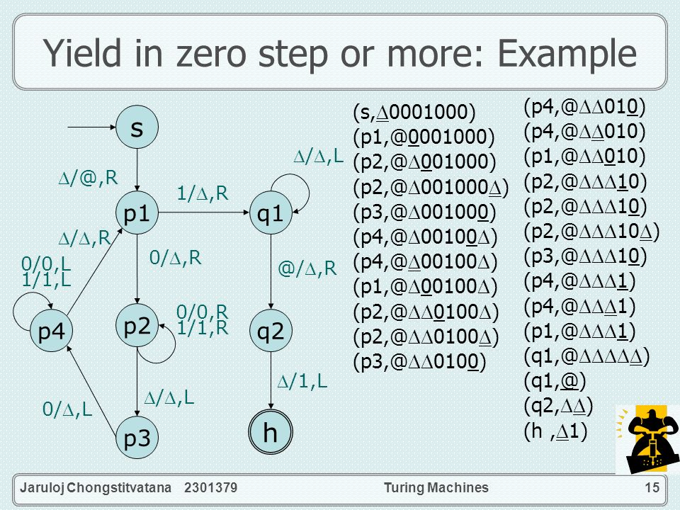 Yield in zero step or more: Example