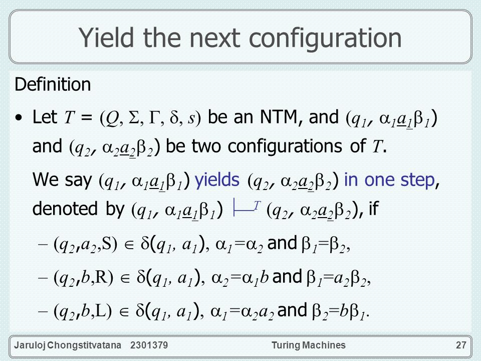 Yield the next configuration