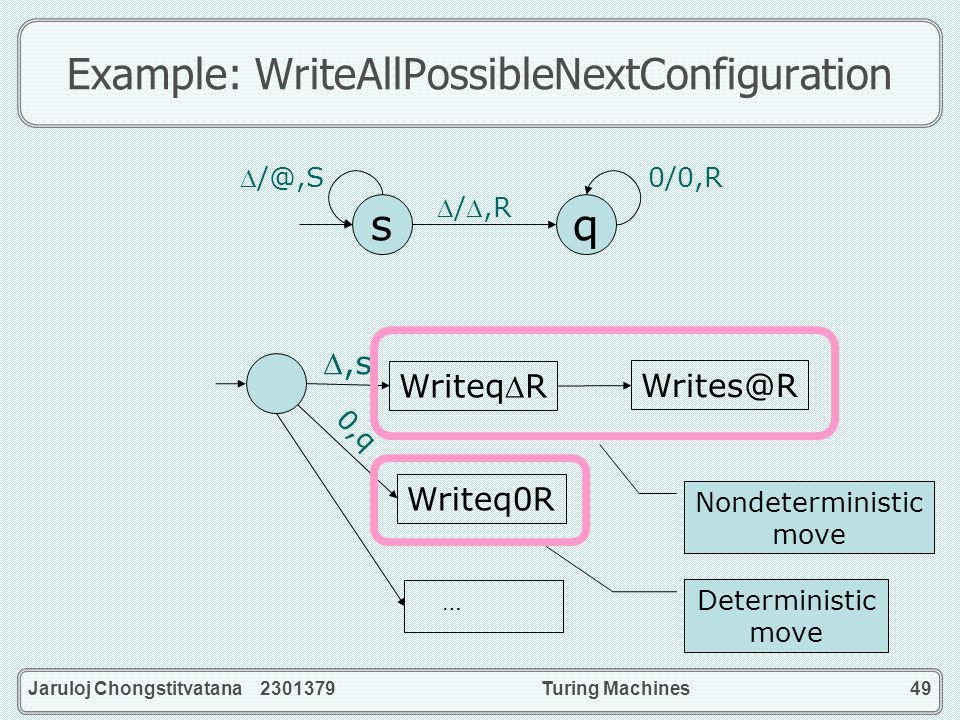 Example: WriteAllPossibleNextConfiguration