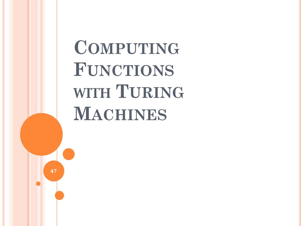 Computing Functions with Turing Machines