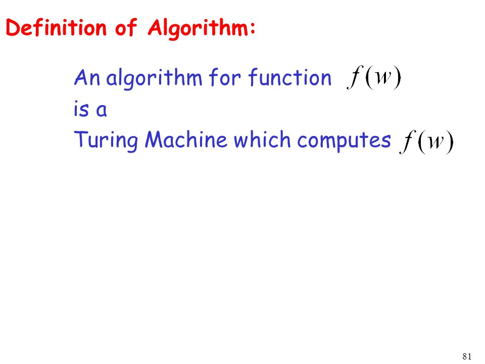 Definition of Algorithm: