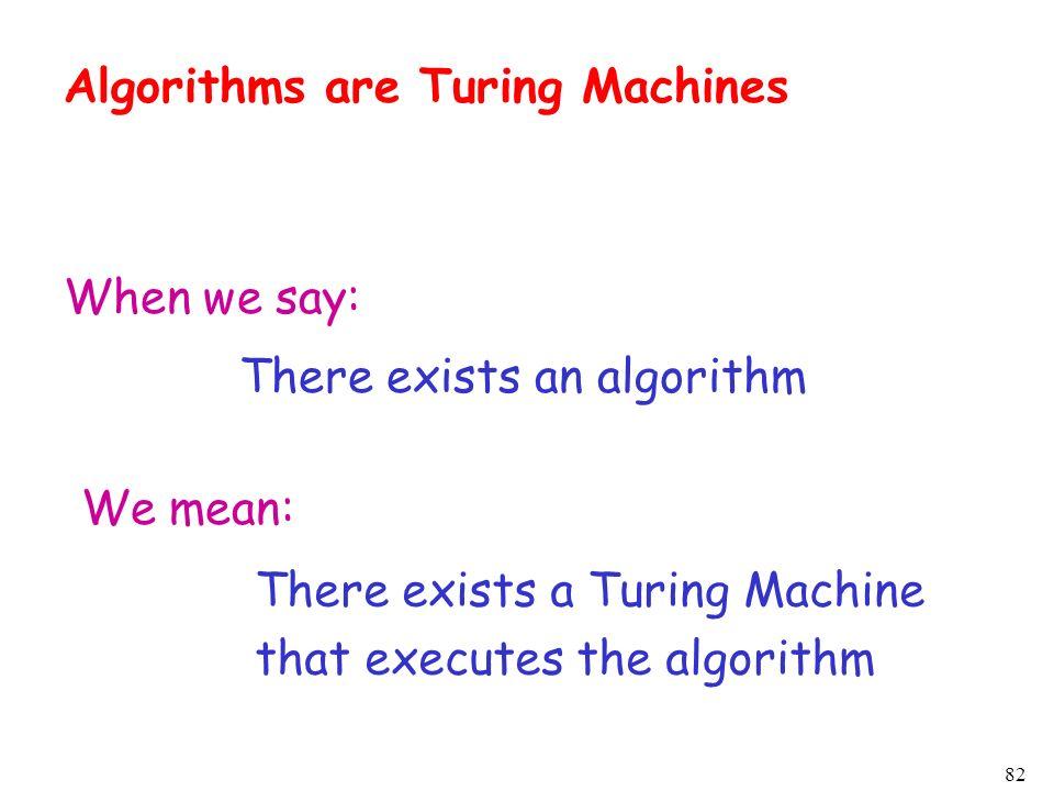 Algorithms are Turing Machines
