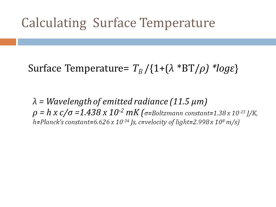 Calculating Surface Temperature