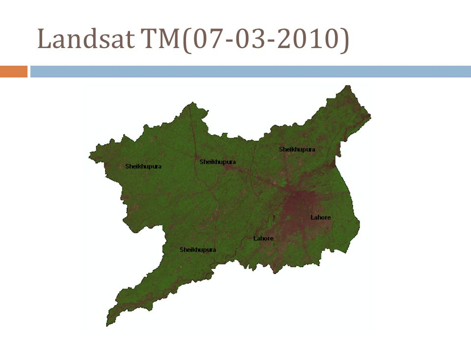Landsat TM(07-03-2010)