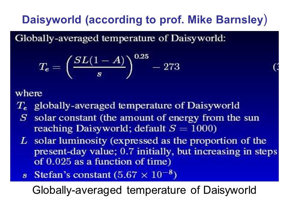 Daisyworld (according to prof. Mike Barnsley)
