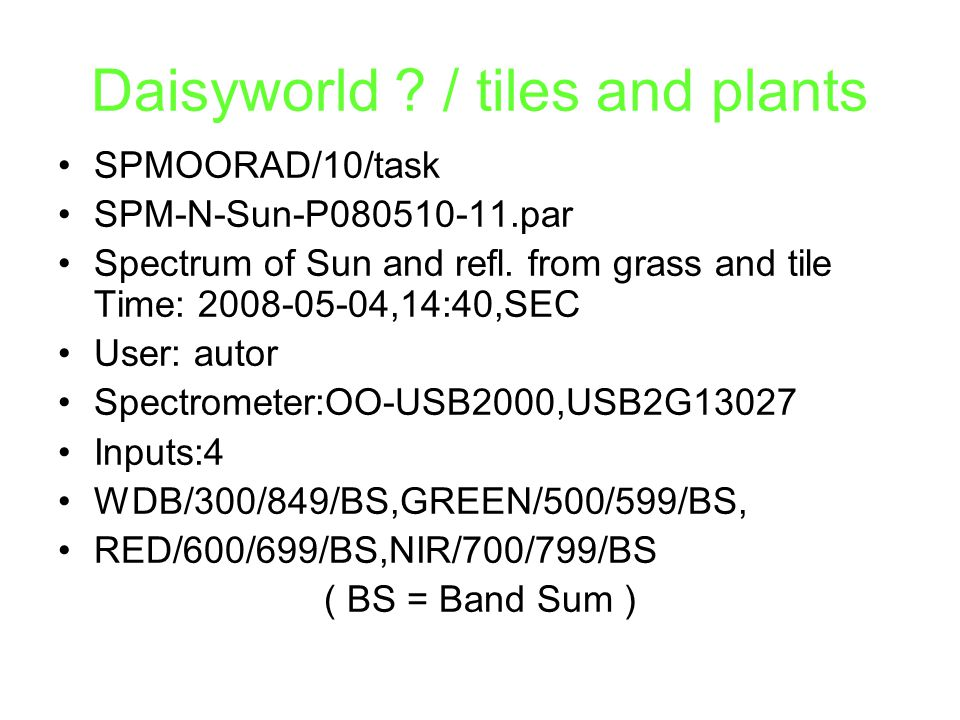 Daisyworld / tiles and plants