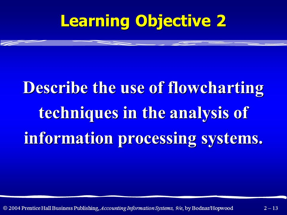 Describe the use of flowcharting techniques in the analysis of