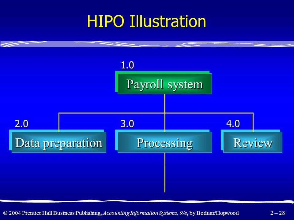 HIPO Illustration Payroll system Data preparation Processing Review