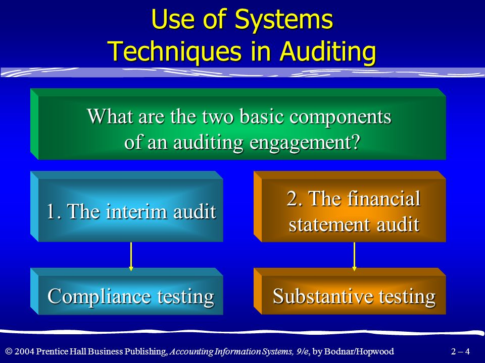 Use of Systems Techniques in Auditing