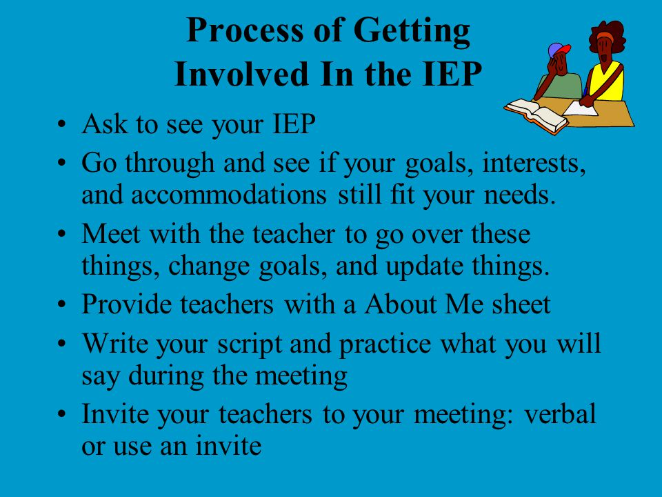 Process of Getting Involved In the IEP