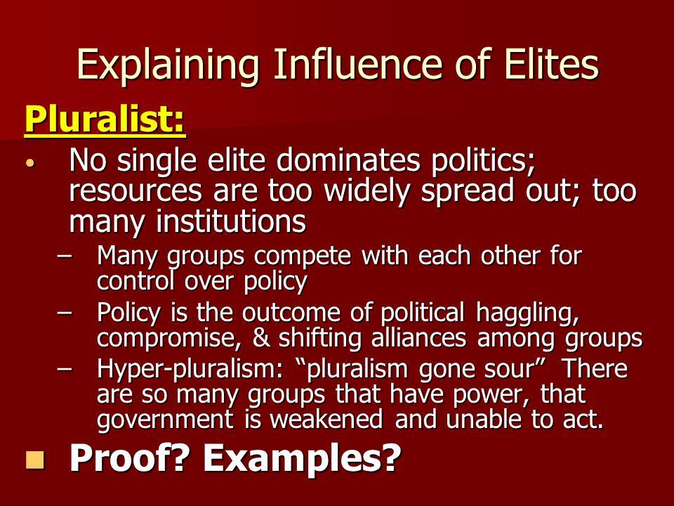 Explaining Influence of Elites