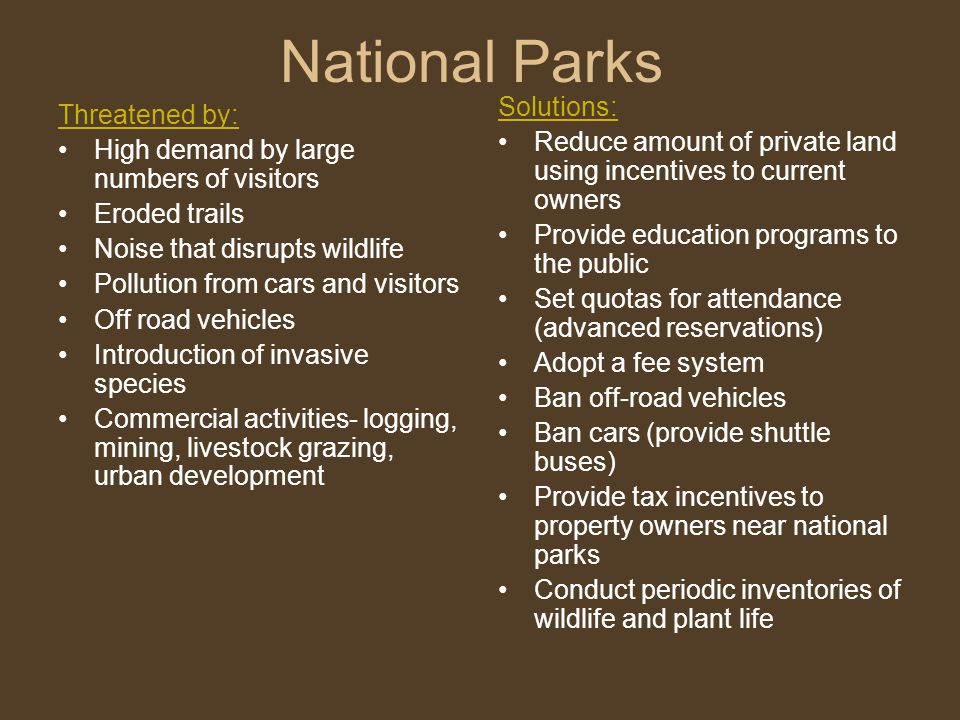 National Parks Solutions: